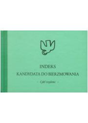 Indeks kandydata do bierzmowania. - okładka podręcznika