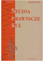 Studia prawnicze KUL, 1(53)/2013 - okładka książki