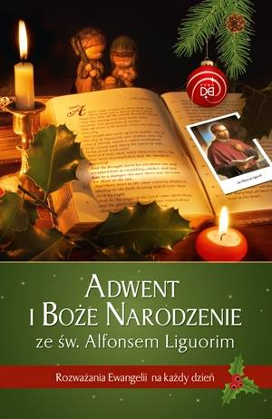 Adwent i Boże Narodzenie ze św. - okładka książki