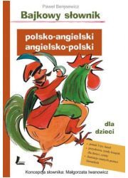 Bajkowy słownik polsko-angielski, - okładka książki
