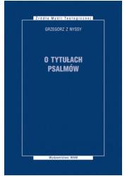O tytułach psalmów. Seria: Żródła - okładka książki