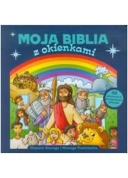 Moja Biblia z okienkami. Historie - okładka książki