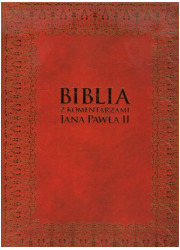 Biblia z komentarzami Jana Pawła - okładka książki