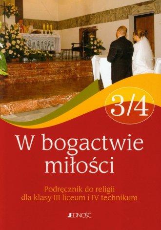 W bogactwie miłości 3/4. Religia. - okładka podręcznika