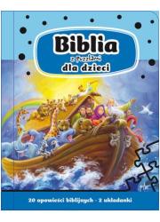 Biblia z puzzlami dla dzieci - okładka książki