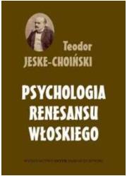 Psychologia renesansu włoskiego - okładka książki