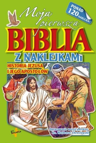 Moja pierwsza Biblia z naklejkami - okładka książki