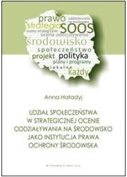 Udział społeczeństwa w strategicznej - okładka książki