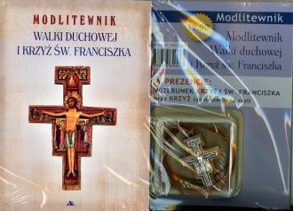 Modlitewnik walki duchowej i krzyż - okładka książki