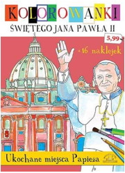 Ukochane miejsca papieża. Kolorowanki - okładka książki