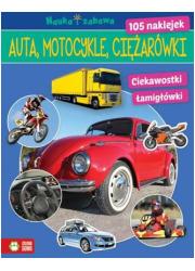 Auta, ciężarówki, motocykle. Nauka - okładka książki