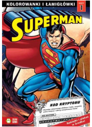Superman. Kolorowanki i łamigłówki - okładka książki