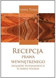 Recepcja prawa wewnętrznego związków - okładka książki