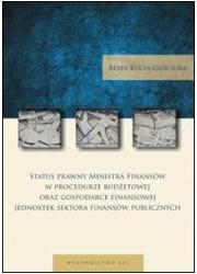 Status prawny Ministra Finansów - okładka książki