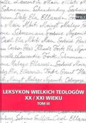 Leksykon wielkich teologów XX/XXI - okładka książki