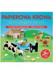 Papierowa krowa czyli origami na - okładka książki