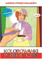 Modne stroje polskie. Kolorowanki - okładka książki