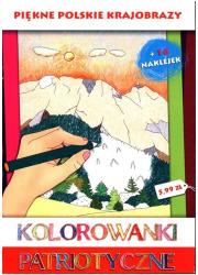 Piękne polskie krajobrazy. Kolorowanki - okładka książki