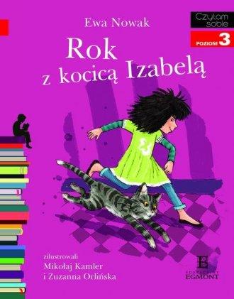 Czytam sobie. Poziom 3. Rok z kocicą - okładka książki