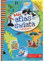 Mój atlas świata z naklejkami - okładka książki