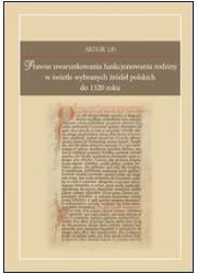 Prawne uwarunkowania funkcjonowania - okładka książki