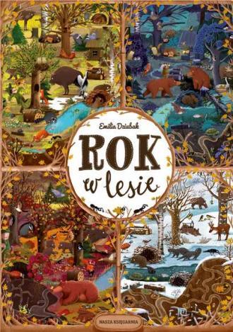 Rok w lesie - okładka książki