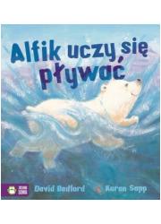 Alfik uczy się pływać. Poczytajmy - okładka książki