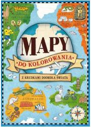 Mapy do kolorowania - okładka książki