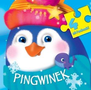 Pingwinek. 4 układanki - okładka książki