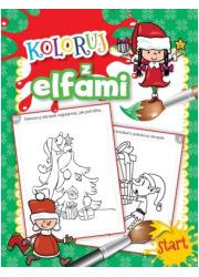 Koloruj z elfami - okładka książki