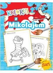 Koloruj z Mikołajem - okładka książki
