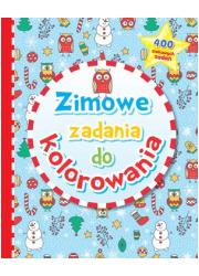 Zimowe zadania do kolorowania - okładka książki