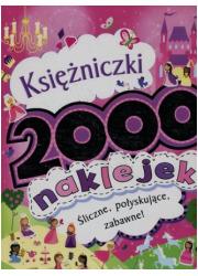 Księżniczki. 2000 naklejek - okładka książki