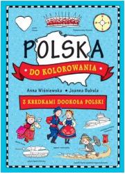Polska do kolorowania. Z kredkami - okładka książki