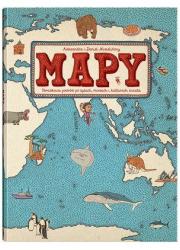 Mapy. Obrazkowa podróż po lądach, - okładka książki