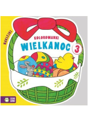 Wielkanoc. Kolorowanki cz. 3 - okładka książki