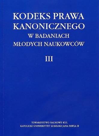 Kodeks Prawa Kanonicznego w badaniach - okładka książki