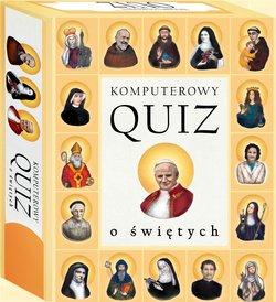 Komputerowy quiz o świętych - pudełko programu