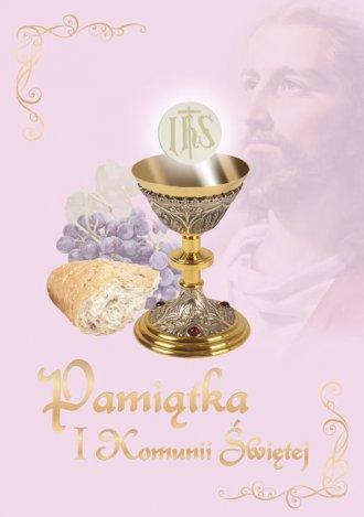 Pamiątka I Komunii Świętej (różowa) - okładka książki