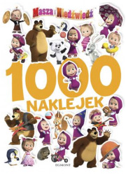 Masza i Niedźwiedź. 1000 naklejek - okładka książki