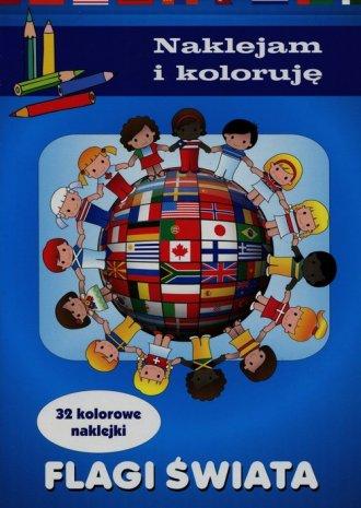 Flagi świata. Naklejam i koloruję - okładka książki