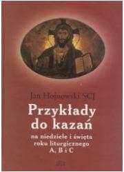 Przykłady do kazań na niedzielę - okładka książki