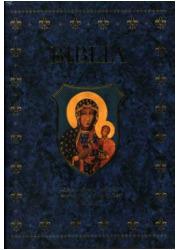 Biblia domowa w obwolucie z MB - okładka książki