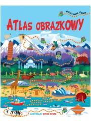 Atlas obrazkowy + wielka mapa świata - okładka książki