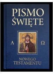 Pismo Św. Nowego Testamentu (granatowe) - okładka książki