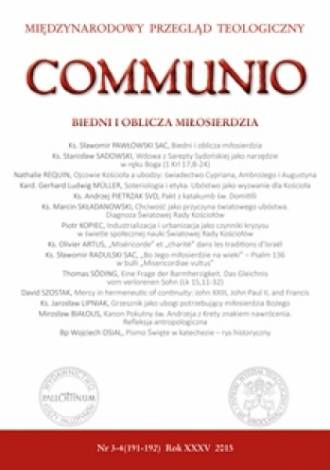 Communio nr 3-4(191-192)/2015. - okładka książki