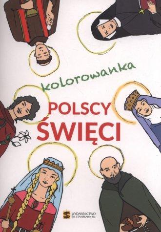 Polscy święci - kolorowanka - okładka książki