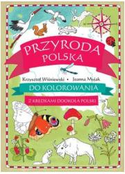 Przyroda polska do kolorowania. - okładka książki