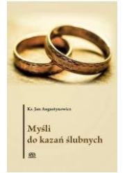Myśli do kazań ślubnych - okładka książki