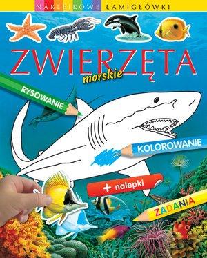 Zwierzęta morskie. Naklejkowe łamigłówki - okładka książki